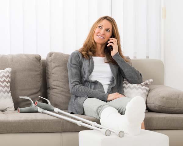 vrouw ontspannen dankzij goede hulp